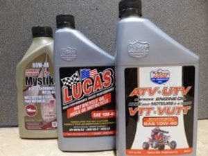 Different types of ATV dedicated oil from varying brands