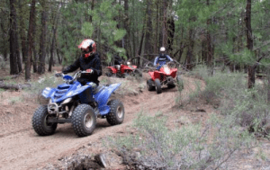 A group of ATV riders raging through the east fort rock trail