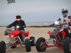 A couple of ATV riders using the LED fitted to their vehicles
