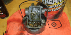 A type of carburetor being fixed for future use