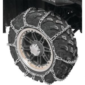 New tires with tire chains fitted from the begging of use.